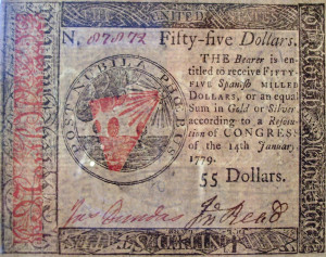 Benjamin_Franklin_nature_printed_55_dollar_front_1779