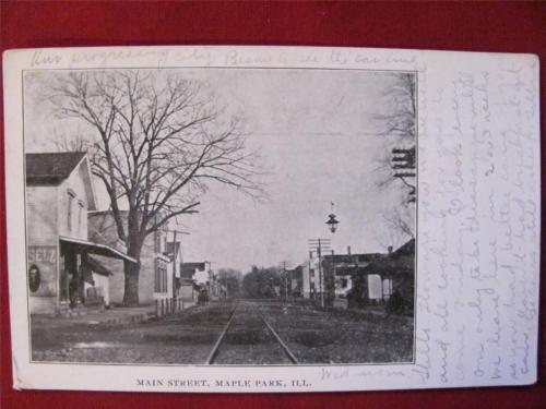 postcard of Maple Park, IL