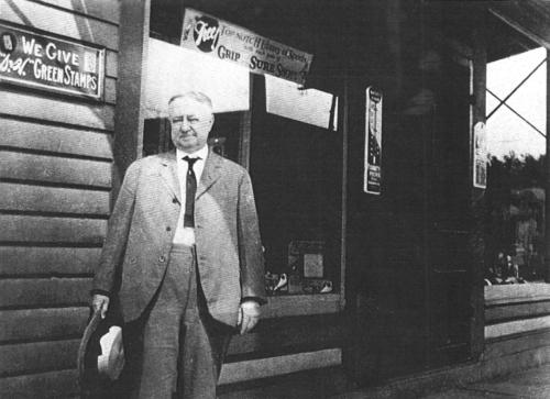 James Fitzgerald in front of his store
